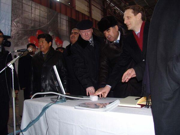 Ввод в работу первого  гидроагрегата Сангтудинской ГЭС-1 20 января 2016 года - Sputnik Таджикистан