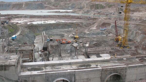 Строительная площадка ГЭС, архивное фото - Sputnik Тоҷикистон