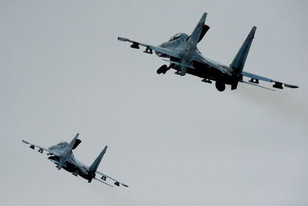 Истребители Су-27СМ. Архивное фото - Sputnik Таджикистан