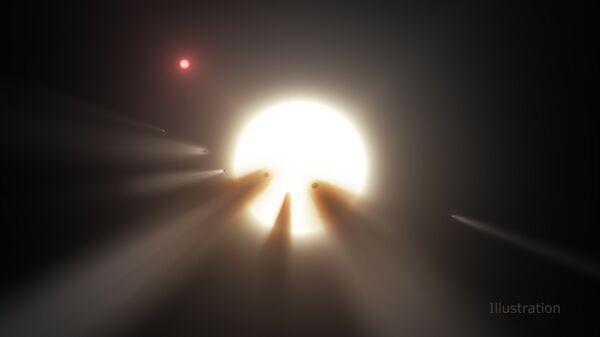 Иллюстрация звезды KIC 8462852 - Sputnik Таджикистан