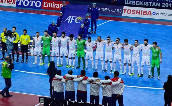Сборная Таджикистана на чемпионате Азии по футзалу 2016 - Sputnik Таджикистан