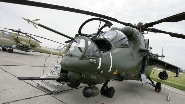 Транспортно-боевой вертолет Ми-35М, архивное фото - Sputnik Таджикистан