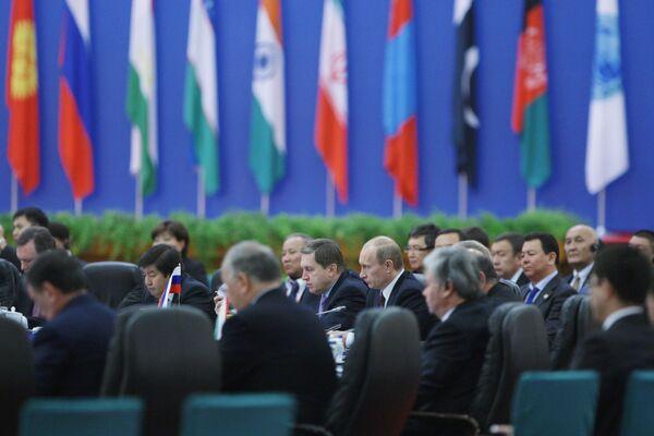 В.Путин принял участие в заседании Совета глав правительств государств-членов Шанхайской Организации Сотрудничества (ШОС). Архивное фото - Sputnik Таджикистан