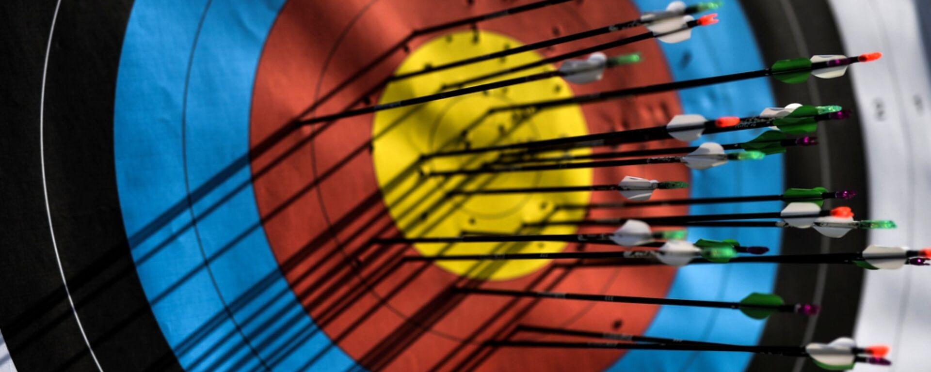 Мишень со стрелами во время соревнований по стрельбе из лука. Архивное фото - Sputnik Таджикистан, 1920, 10.09.2020