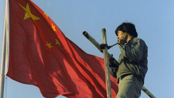 Установление Китайского флага. Архивное фото - Sputnik Таджикистан