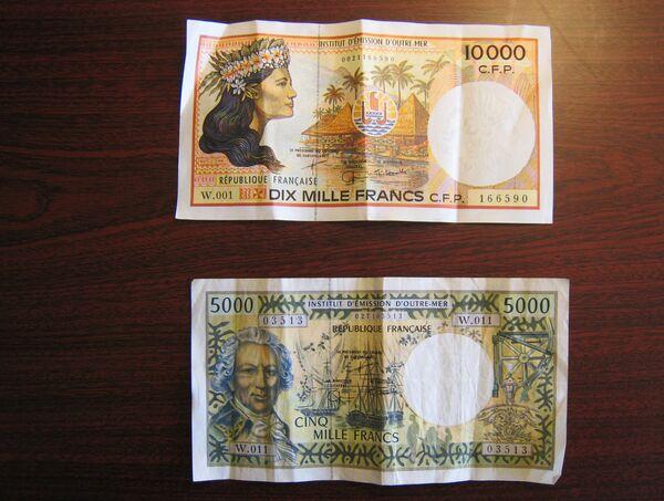 Французский тихоокеанский франк. Архивное фото - Sputnik Таджикистан