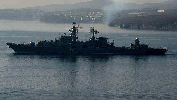 Гвардейский ракетный крейсер Варяг. Архивное фото - Sputnik Таджикистан