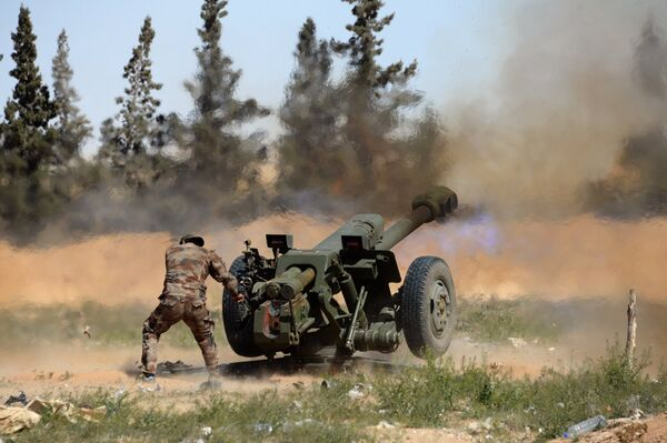 Боевые действия сирийской армии в окрестностях Пальмиры - Sputnik Таджикистан