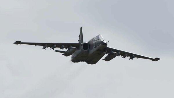 Самолет Су-24 на совместных учениях российских и таджикских военных на военном полигоне Ляур - Sputnik Таджикистан