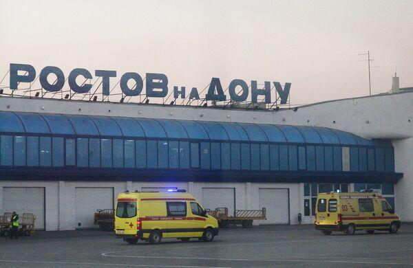 Машины скорой помощи в аэропорту Ростова-на-Дону. Архивное фото - Sputnik Таджикистан