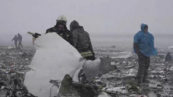 Спасатели собирали засыпанные снегом обломки Boeing 737-800  в Ростове-на-Дону - Sputnik Таджикистан