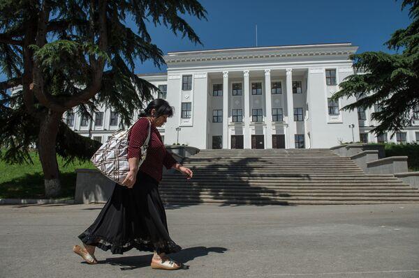 Здание парламента Республики Южная Осетия в Цхинвале. Архивное фото - Sputnik Таджикистан