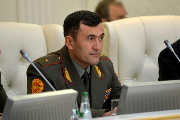 Начальник Генштаба Вооруженных сил Таджикистана, первый заместитель министра обороны РТ генерал-майор Эмомали Собирзода. - Sputnik Таджикистан