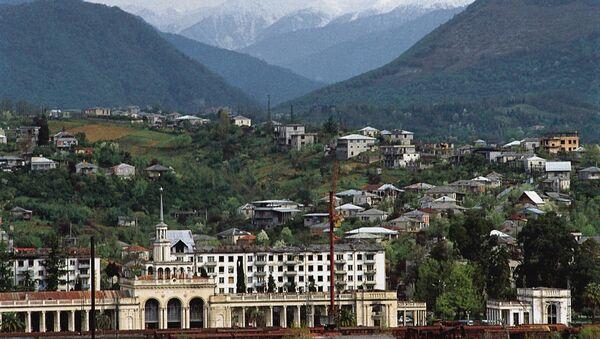 Железнодорожный вокзал в Сухуми, архивное фото - Sputnik Таджикистан