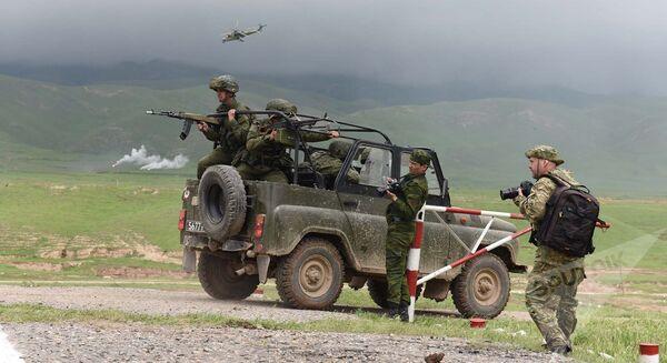 Основной этап совместных учений стран ОДКБ Поиск-2016 - Sputnik Таджикистан