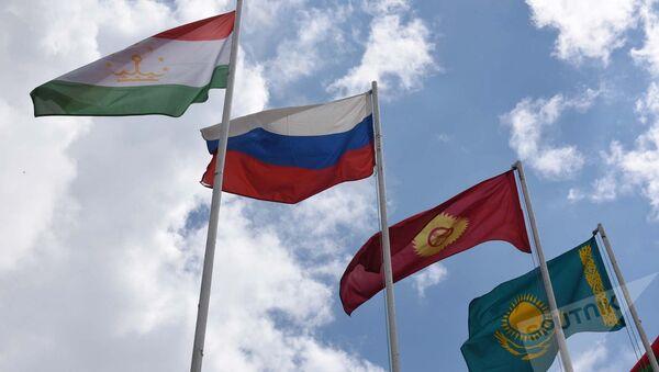 Флаги стран ОДКБ, архивное фото - Sputnik Тоҷикистон