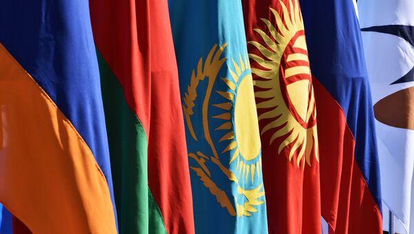 Флаги стран-участниц ЕАЭС, архивное фото - Sputnik Таджикистан