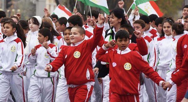 Таджикские спортсмены. Архивное фото - Sputnik Таджикистан