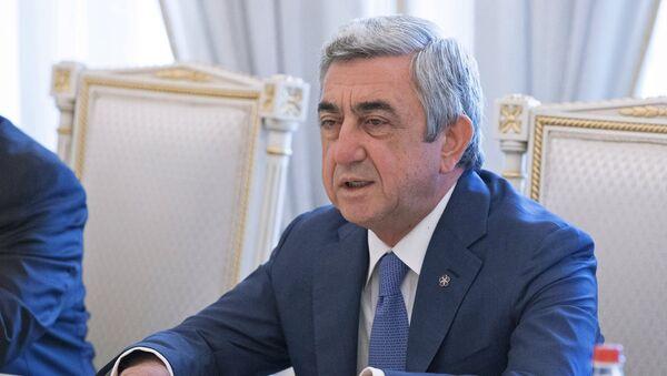 Президент Армении Серж Саргсян - Sputnik Тоҷикистон