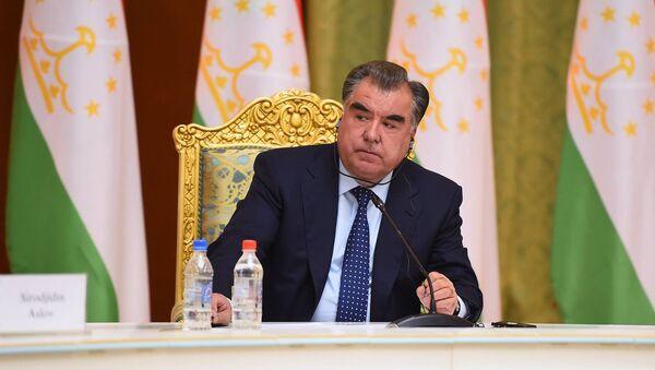 Эмомали Рахмон. Архивное фото - Sputnik Таджикистан