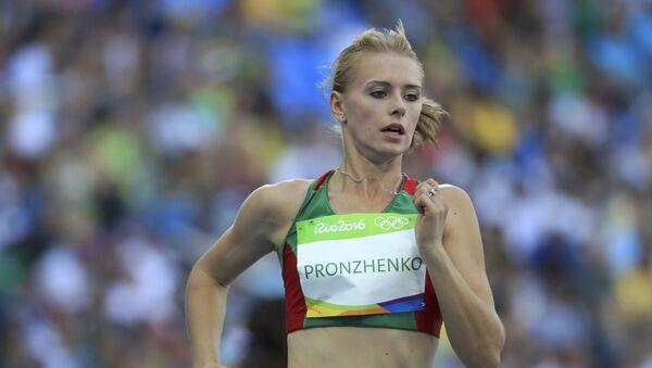 Кристина Пронженко в забеге на 200 метров на Олимпиаде в Рио-де-Жанейро - Sputnik Таджикистан