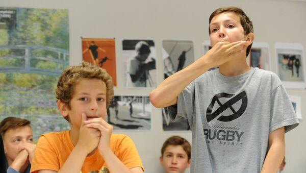 Школьники во Франции. Архивное фото - Sputnik Таджикистан