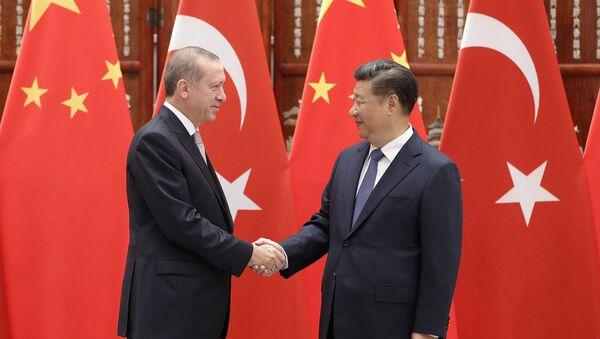 Президент Турции Реджеп Эрдоган и председатель КНР Си Цзиньпин - Sputnik Таджикистан