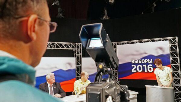 Предвыборные дебаты на калининградском телевидении ГТРК Янтарь - Sputnik Таджикистан