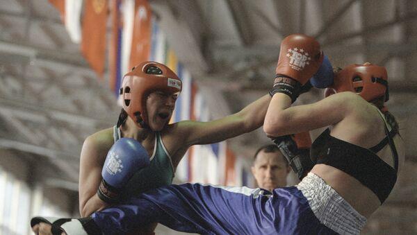 Соревнования по кикбоксингу. Архивное фото - Sputnik Таджикистан