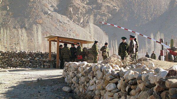 КПП на границе Таджикистана, архивное фото - Sputnik Таджикистан