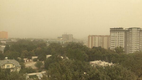 Песчаная буря в Душанбе - Sputnik Таджикистан