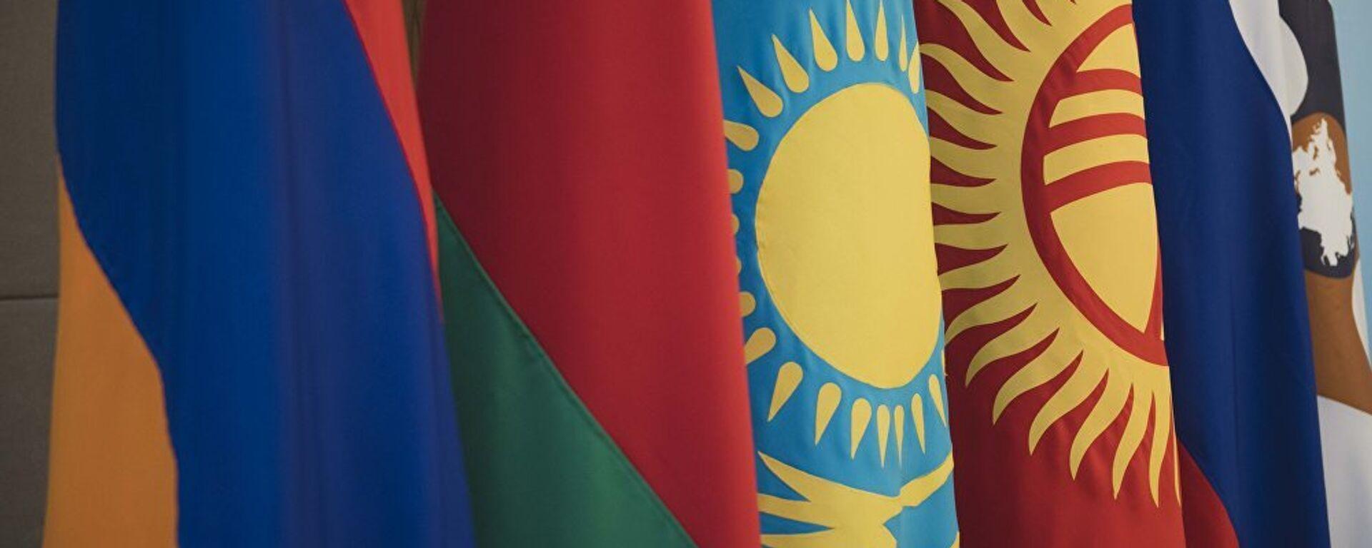 Флаги стран ЕАЭС, архивное фото - Sputnik Таджикистан, 1920, 07.04.2021