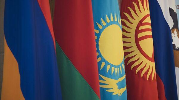 Флаги стран ЕАЭС, архивное фото - Sputnik Таджикистан