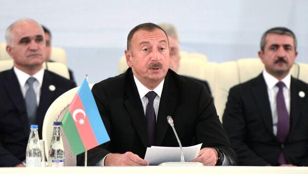 Президент Азербайджанской Республики Ильхам Алиев, архивное фото - Sputnik Таджикистан