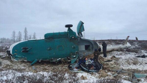 Крушение вертолета Ми-8 на Ямале - Sputnik Тоҷикистон