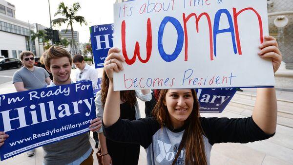 Волонтеры организации Ready for Hillary', архивное фото - Sputnik Таджикистан
