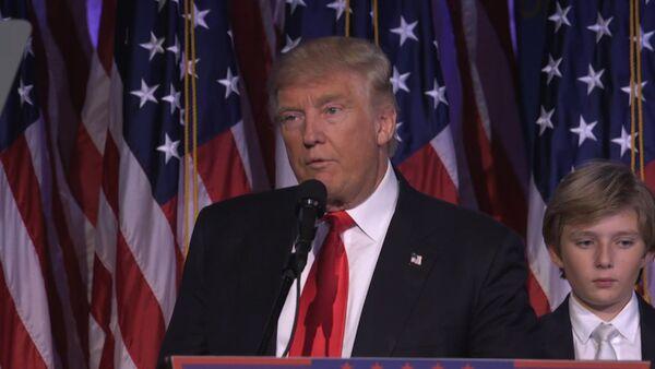 Первая речь избранного президента США Дональда Трампа после победы на выборах - Sputnik Таджикистан