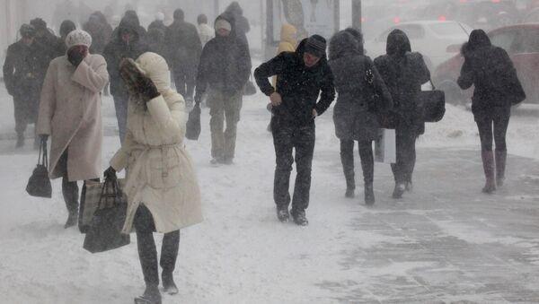 Снегопад, архивное фото - Sputnik Таджикистан