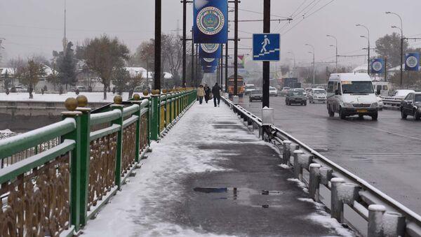 Первый снег в Душанбе: мороз и новогоднее настроение - Sputnik Таджикистан