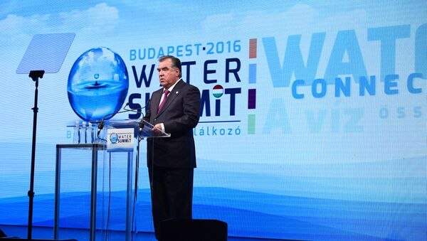 Эмомали Рахмон на энергетическом саммите в Будапеште - Sputnik Таджикистан