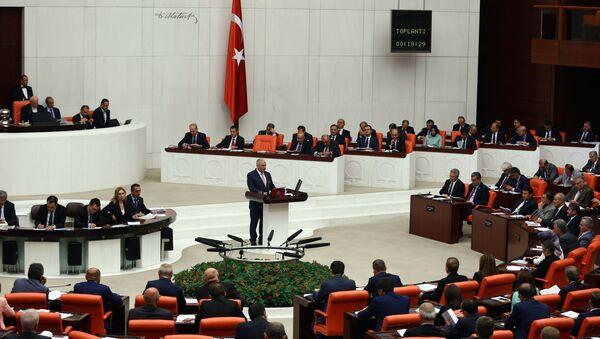 Заседание Великого национального собрания (парламента) Турции, архивное фото - Sputnik Таджикистан
