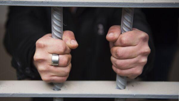 Заключенный в исправительной колонии, архивное фото - Sputnik Тоҷикистон