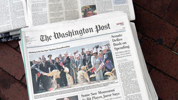 Газета Washington post, архивное фото - Sputnik Таджикистан