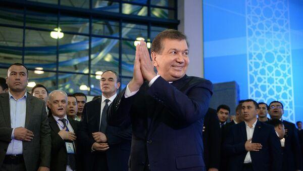 Президенти Узбакистон Шавкат Мирзиёев. Акс аз бойгонӣ - Sputnik Тоҷикистон