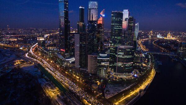 Вид на Московский международный деловой центр Москва-Сити - Sputnik Таджикистан