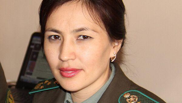 Сотрудник пресс-службы Государственной пограничной службы КР Сажира Чоколоева, архивное фото - Sputnik Таджикистан