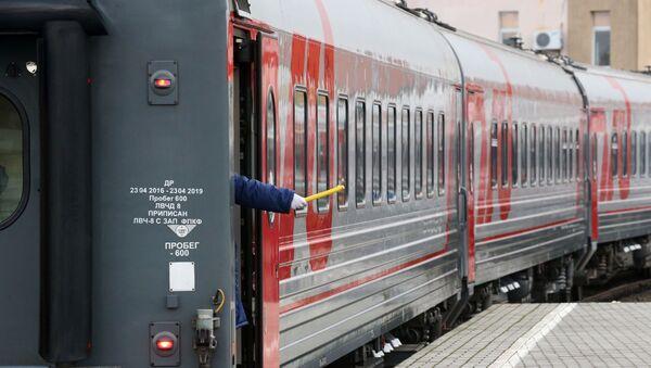 Поезд ОАО РЖД, архивное фото - Sputnik Тоҷикистон