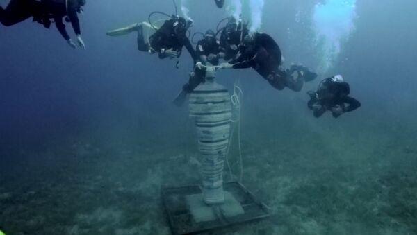 Подводный парк скульптур в Египте - Sputnik Таджикистан