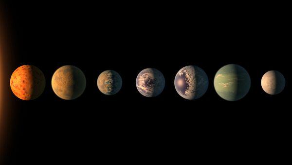 Планеты системы TRAPPIST-1 - Sputnik Таджикистан