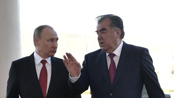 Официальный визит президента РФ В. Путина в Таджикистан - Sputnik Таджикистан